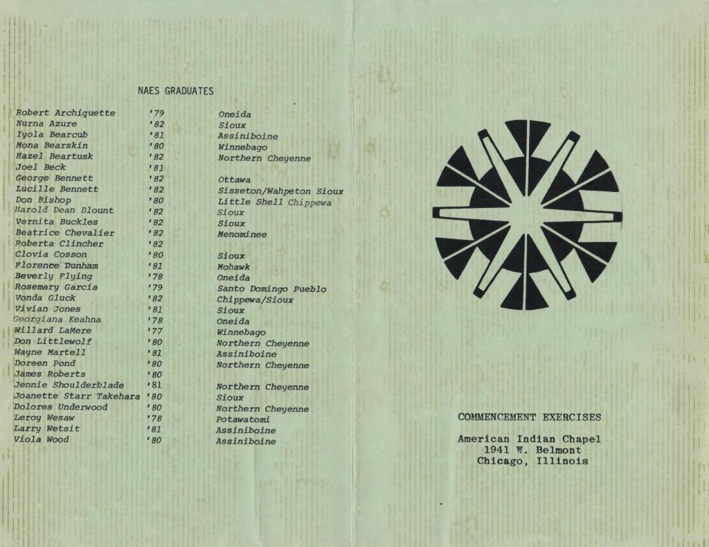 NAES College Graduatation Program 1982 (cover)